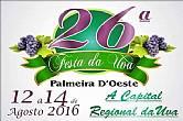26 º FESTA DA UVA EM PALMEIRA D´OESTE